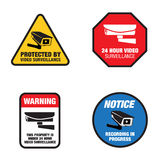 Video Surveillance Signs Stock Photo