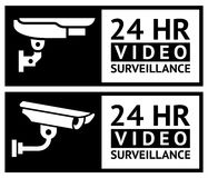 Video surveillance stickers. Set, vector design element Stock Photography