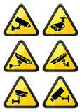 Video surveillance symbol, triangular shape Royalty Free Stock Photos