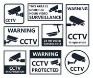 Cctv icons, security camera symbols Royalty Free Stock Image