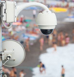 Video surveillance system on the beach Royalty Free Stock Images