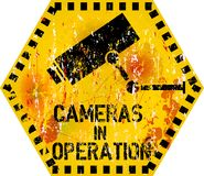 Video surveillance warning Royalty Free Stock Photos