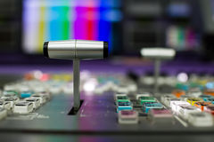 Video Switcher. The video switcher stunt joystick close-up royalty free stock photos