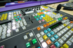 Video Switcher. The switch button close-up of the video switcher Royalty Free Stock Image