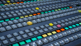 Video Switcher with a lot of Color Buttons Stock Photography