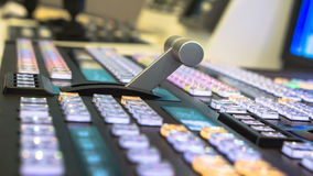 Video switcher of Television Broadcast with blurry background Royalty Free Stock Images