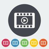 Video symbol royaltyfri illustrationer