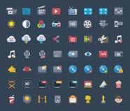 Video symbolsuppsättning Arkivbilder
