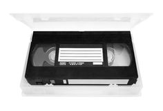 Video tape. In case royalty free stock photos