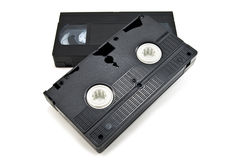 Video tape. Isolated on white stock photography