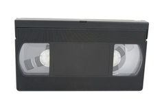 Video tape. Isolated on a white background stock images