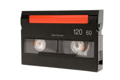 Video tape. Close up of video tape isolated on a white background stock photos
