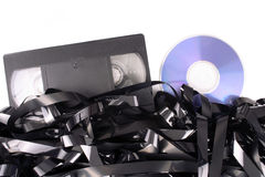 Video tape cassete to DVD Royalty Free Stock Photos