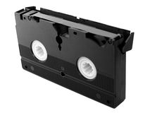 Video tape cassette. VHS Videotape magnetic tape cassette for video recording royalty free stock photos