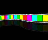 Video tape. Color kinomatohrafichna tape. Film strip horizontally Royalty Free Stock Photo