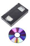 Video tape e DVD Foto de Stock