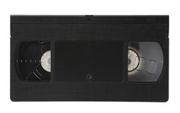 Video tape isolated. VHS video Tape Isolated on White with clipping path Royalty Free Stock Photography