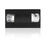 Video Tape (isolated on white). Video tape on a white background with mirror shadow Stock Images