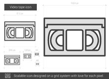 Video tape line icon. Stock Images