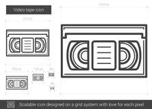 Video tape line icon. Stock Image