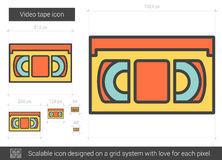 Video tape line icon. Royalty Free Stock Photo