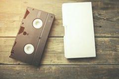 Video tape na tabela foto de stock
