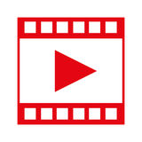 video tape segment with play icon Royalty Free Stock Image