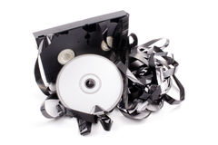 Video tape to DVD. Photo of Video tape to DVD Stock Image
