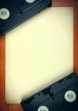 Video Tapes on the Board Stock Images