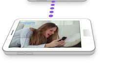 Video of a teen couple texting each other Royalty Free Stock Image