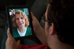 Video Telefonie op Digitale PC van de Tablet Royalty-vrije Stock Afbeelding