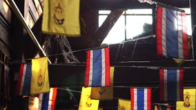 Video Thai national flags and Thai's King flag stock video footage