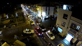 Video Timelapse di traffico di notte video d archivio