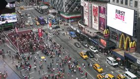 Times Square in the daytime stock video footage