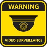 Video toezichtteken De camera van kabeltelevisie Stock Foto