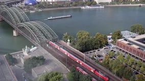Train Bridge River. Video of Train Bridge River stock video