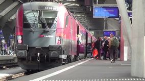 Train Standing in Train Station. Video of Train Standing in Train Station stock video