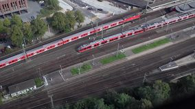 Train Station Areal. Video of Train Station Areal stock video footage