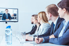 Video training for high management staff Royalty Free Stock Photo