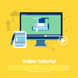 Video Tutorial Editor Concept Modern Technology Web Banner Stock Photography