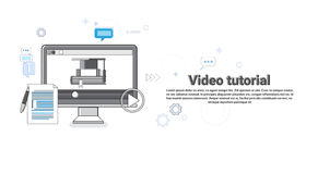 Video Tutorial Editor Concept Modern Technology Web Banner Royalty Free Stock Photos