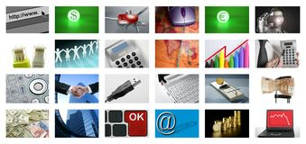 Video tv screen technology and communications Stock Photo