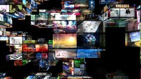Video ummauert Montage 3D stock abbildung