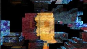 Video ummauert Montage 3D lizenzfreie abbildung