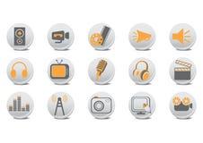 Video und Audiotasten Lizenzfreies Stockfoto