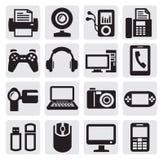 Video und Audiovektor Lizenzfreies Stockbild
