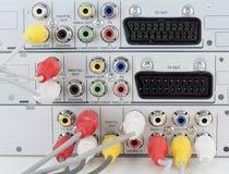 Video unità con i cavi connessi Fotografie Stock Libere da Diritti