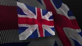 United Kingdom flag England english. Video of United Kingdom flag England english stock video footage