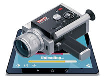 Video Uploading Icon Stock Photos