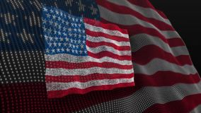 Usa flag America blow flutter. Video of usa flag America blow flutter stock footage